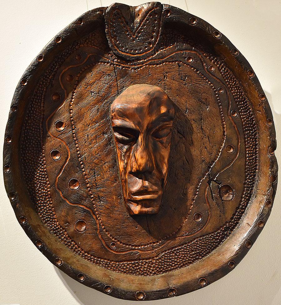 Wooden Portrait 49 - Bui Duc