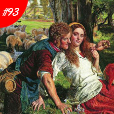 World Famous Paintings The Hireling Shepherd