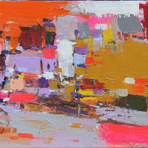 Abstract - Vietnamese Oil Paintings by Artist Pham Hoang Minh