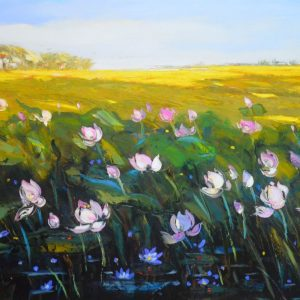 Afternoon Sunlight IV - Oil Painting of Artist Dang Dinh Ngo