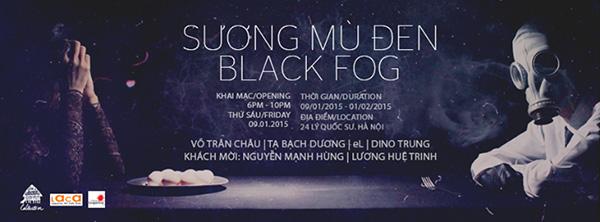 Exhibition black fog in hanoi nguyen art gallery - Appartement renove hanoi hung manh tran ...