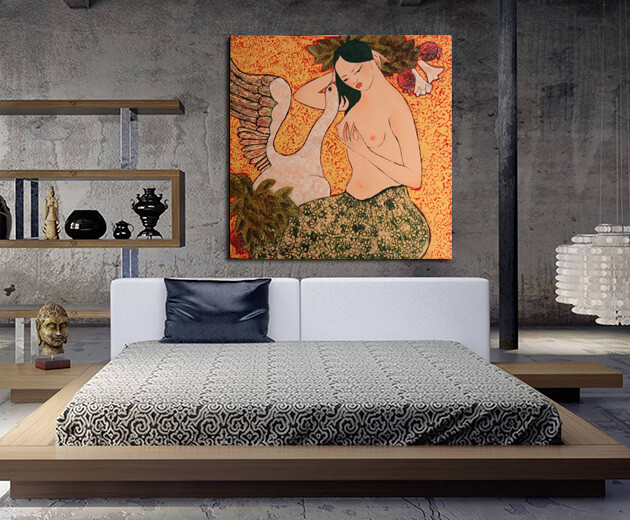 famous nude paintings in bedroom