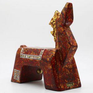 Garish Horse II - Vietnamese Lacquer Artworks by Artist Nguyen Tan Phat
