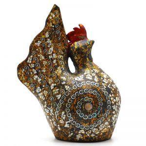 Golden Cock IV - Vietnamese Lacquer Artworks by Artist Nguyen Tan Phat