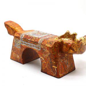 Golden Horse I - Vietnamese Lacquer Artworks by Artist Nguyen Tan Phat