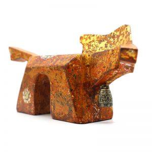 Golden Horse II - Vietnamese Lacquer Artworks by Artist Nguyen Tan Phat