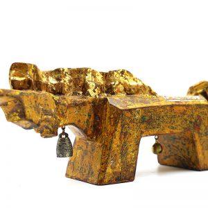 Golden Horse III - Vietnamese Lacquer Artworks by Artist Nguyen Tan Phat