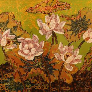 lacquer paintings Lotus I