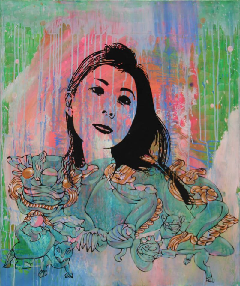 lady 10 acrylic on canvas, Artworks in Vietnam