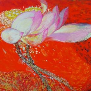 lotus I painting famous vietnamese artists