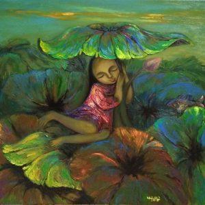 lotus season artist nguyen hien