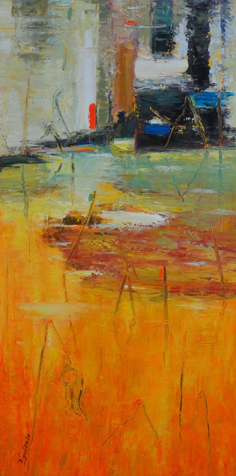 New Season III - Vietnamese Oil Paintings by Artist Dang Dinh Ngo