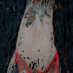 Nude V - Vietnamese Lacquer Painting on Wood by Artist Trieu Khac Tien