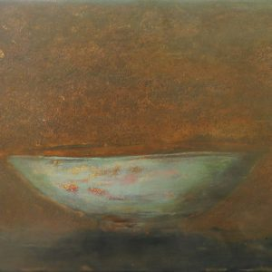 Old Bowl 29 - Vietnamese Lacquer Paintings Still Life by Artist Nguyen Tuan Cuong