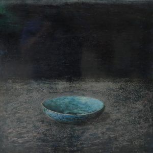 Old Bowl 30 - Vietnamese Lacquer Paintings Still Life by Artist Nguyen Tuan Cuong