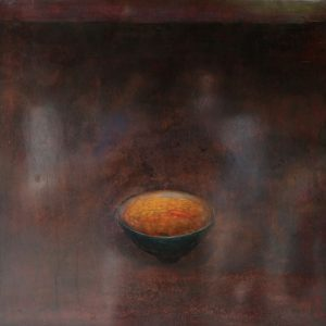Old Bowl 31 - Vietnamese Lacquer Paintings Still Life by Artist Nguyen Tuan Cuong