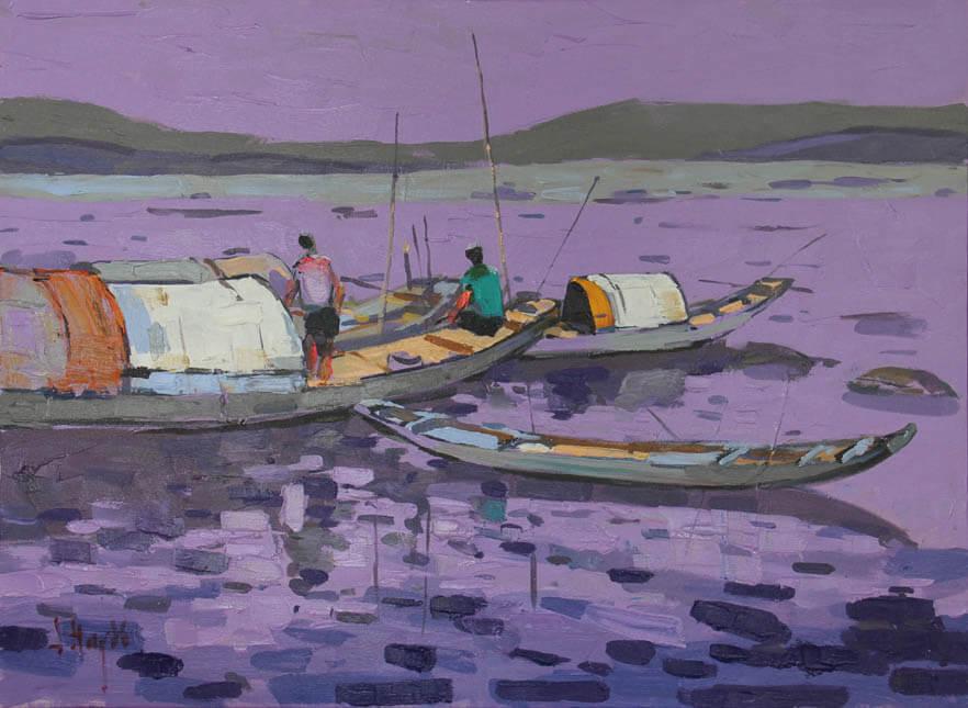 sun set on the sea 60 x80, Vietnam art galleries