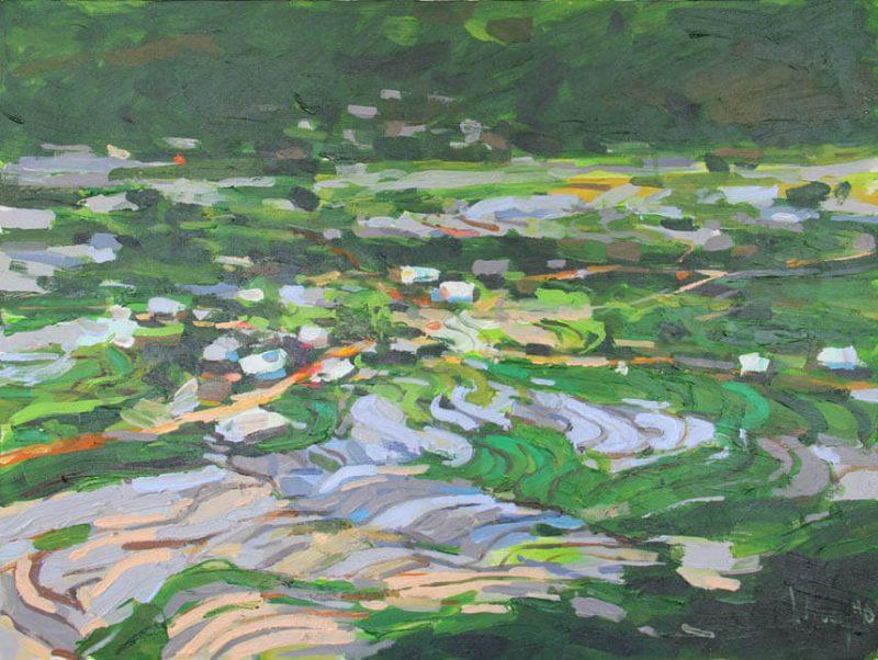 terraced field 60 x 80, Vietnam Paintings