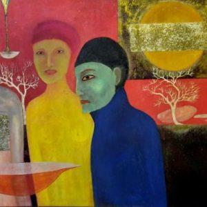 the masks tran dan famous vietnamese painters