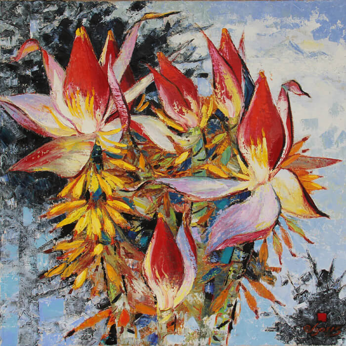 wild Banana Flowers, Vietnam Art Paintings